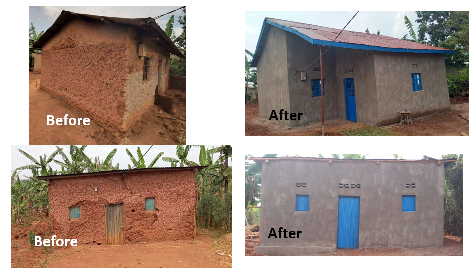 09/2021, 4 genocide survivors' houses were renovated.